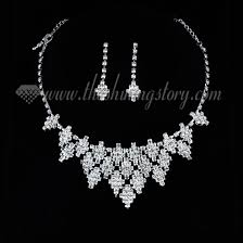 silver earrings necklace images Wedding bridal prom rhinestone chandelier necklaces and earrings 1 jpg
