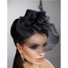 voilette mariage chapeau mini bibi voilette mariage noir plume coiffe achat et vente