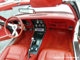 corvette stingray interior 1977 white l82 4spd corvette stingray red int corvettes classics