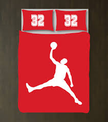 Red Duvet Set Custom Boys Basketball Player Bedding Set Duvet Cover U2013 Shop