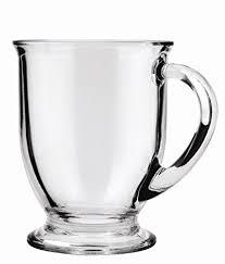 Fancy Coffee Mugs Amazon Com Anchor Hocking Café Glass Coffee Mugs 16 Oz Set Of