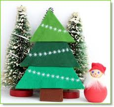 felt ornaments and tree made with decorative machine
