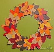 autumn crafts for paper autumn wreath felt leaves