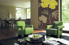 modern green color paint living room wall ideas homemodern