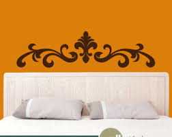 Headboard Wall Decor by Wall Decal Headboard Etsy