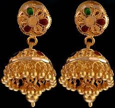 bengali earrings meenakari jhumka earrings