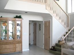 interior casual half turn staircase decorating design ideas with