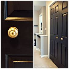 Interior Door Handles For Homes by Focal Point Styling How To Paint Interior Doors Black U0026 Update