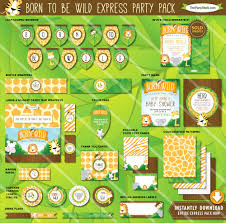 safari baby shower decorations printable party package