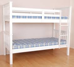 Pine Bunk Bed White - Solid pine bunk bed