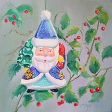 christmas ornament lll oil painting 2016 original art painting by