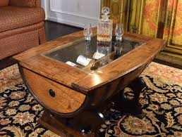 whiskey barrel side table 15 amazingly cool coffee table ideas for your living room