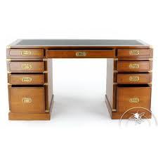 caisson bureau bois bureau bois et cuir 9 tiroirs officier saulaie
