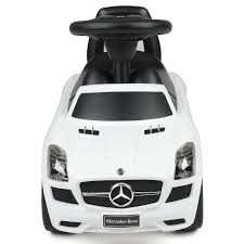 mercedes white children u0027s ride on suv car toy mercedes benz amg sls with sound
