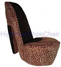 amazon com leopard high heel shoe chair kitchen u0026 dining