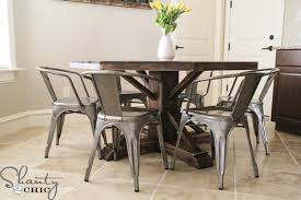 Circular Dining Room Table Diy Round Wooden Table For 110 Shanty 2 Chic