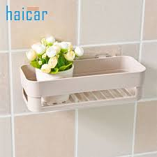 Plastic Bathroom Storage Bathroom Storage Shelves Plastic Suction Cup Kitchen Corner
