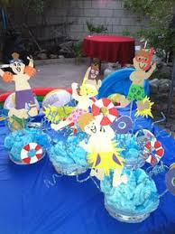 Pool Party Decoration Ideas Pool Party Centerpiece Comes In A Blue Sand By Yourcreativeparty