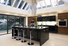 kitchen alluring modern unique kitchen design with brown hard