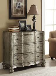 Bombay Chest Nightstand Acme 90083 Edlyn Antique Silver 3 Drawer Bombay Chest