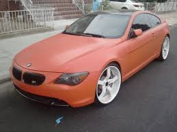 matte black and pink bmw flat orange bmw 645ci on 20 inch white rims youtube