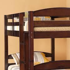 Amazoncom Walker Edison Solid Wood Twin Bunk Bed Espresso - Solid wood bunk bed