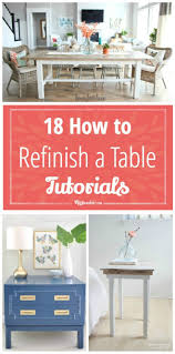 How To Repaint A Nightstand 18 How To Refinish A Table Tutorials Tip Junkie