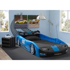 car bedroom twin bed race car toddler kids bedroom furniture new blue