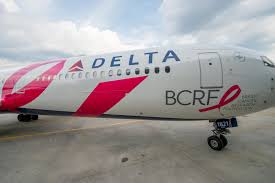 in the pink outfitting an aircraft to fight breast cancer delta