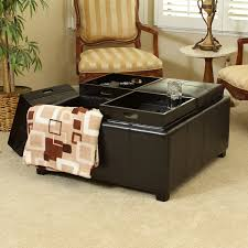 Leather Coffee Table Storage Coffee Table Leather Storage Ottoman Coffee Table Black Storage