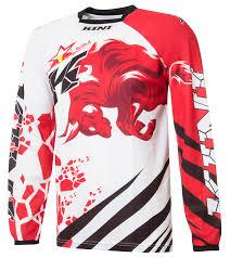 red bull motocross jersey kini red bull jersey revolution red white 2016 maciag offroad