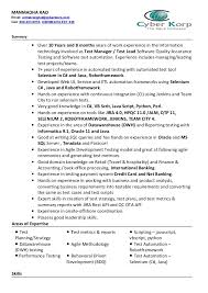 Software Testing Resume Samples For Freshers by Manmadha Rao Q A Test Manager Lead Resume Cyberkorp Inc