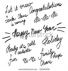 handwriting lettering happy new year merry stock vector 346262996
