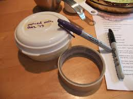 masking tape and a sharpie u2013 best kitchen tools ever