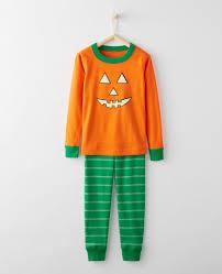 Glow In The Dark Halloween Fabric by Glow In The Dark Long John Pajamas In Organic Cotton