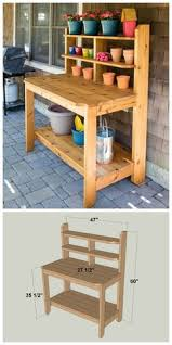 Outdoor Potting Bench With Sink Eartheasy Influences Pinterest Bench Green Garden And Cacti