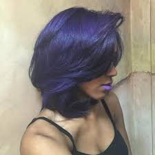 weave hairstyles with purple tips 50 short hairstyles for black women stayglam
