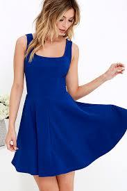 pretty cobalt blue dress skater dress 42 00