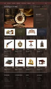 antique store responsive opencart template 48753