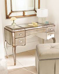 Mirror Vanity Furniture Claudia Mirrored Vanity Desk