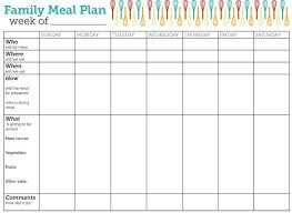 menu planners templates the 25 best weekly meal planner template ideas on