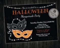 Halloween Costume Party Invitations Masquerade Halloween Invitation Masquerade Costume Party Pink