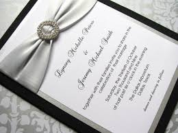 silver wedding invitations black and silver wedding invitations oxsvitation