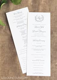 wedding programs laurel wreath wedding programs panel style wedding invitations
