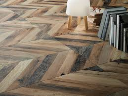 porcelain stoneware flooring with wood effect chevron by ceramiche