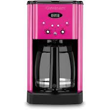 Cuisinart Coffee Maker Metallic Pink $80 ❤ liked on Polyvore