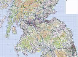 Map Scotland 3 Ordnance Survey Road Map Southern Scotland U0026 Northumberland