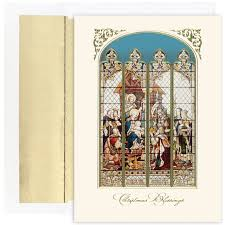 stained glass religious christmas card 14 40 http www