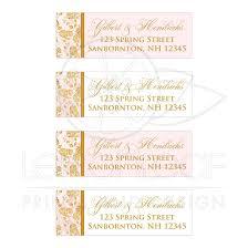vintage blush pink and gold rose floral monogram wedding