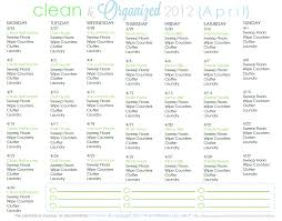 clean organized 2012 free cleaning schedule clean mama